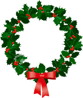 Image result for christmas holly wreath